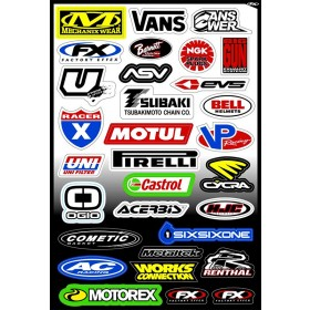 Planche stickers sponsors