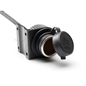 Prise allume cigare 12v avec fusible 15 amp.