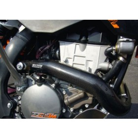 Protection de collecteur d'échappement en carbone KTM EXC-F 250 2008-2010