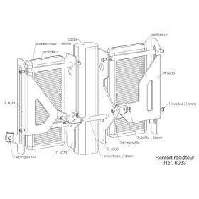 Protections de radiateurs Pour YAMAHA WR450F 2007-2009