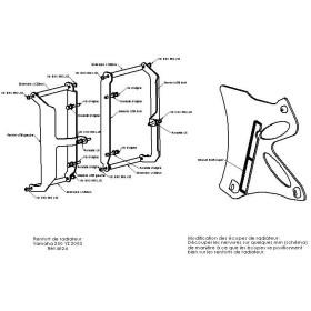 Protections de radiateurs Pour YAMAHA YZ250 2003