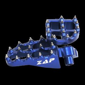Repose-pieds Yamaha alu anodisés  - BLEU