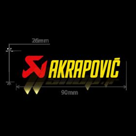 Sticker Akrapovic P-HST3PO