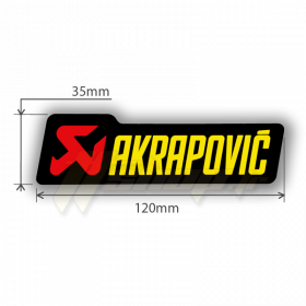 Sticker Akrapovic P-HST6AL
