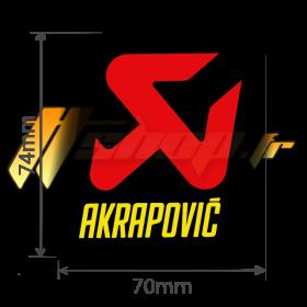 Sticker Akrapovic P-vST2AL