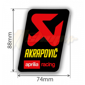 Sticker Akrapovic P-VST2ALAP APRILIA Racing