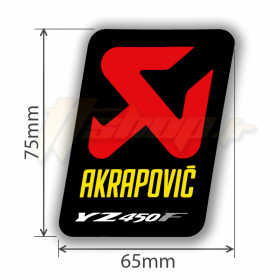 Sticker Akrapovic P-VST2ALYYZ4 pour YAMAHA YZ450F