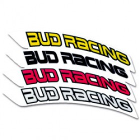 Stickers de garde-boue avant BUD RACING