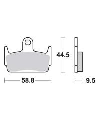 Plaquettes de frein SBS 129HF