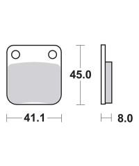 Plaquettes de frein SBS 536SI