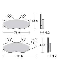 Plaquettes de frein SBS 688HF