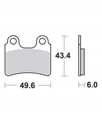Plaquettes de frein SBS 802HF