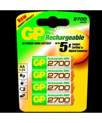 Accus  AA / R6 2700mAh - Pack de 4 accus