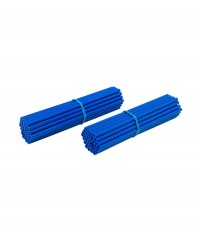 Couvre-rayons de moto bleus