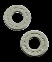 Donuts / butées de poignée en mousse anti-ampoules progrip argent