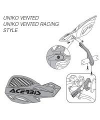Fixations de rechange standard PLASTIQUE pour protège-mains Uniko ventilés