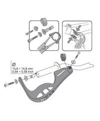 Kit de fixation (collier de serrage en alu) tous guidons pour protège-mains Rally brush