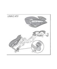 Kit de montage optionnel Uniko ATV pour guidons entre 13.6mm et 15mm