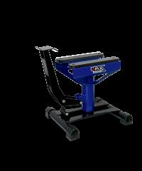 Lève moto bleu position basse