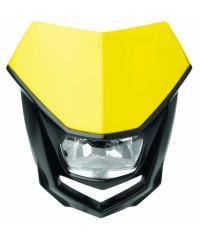 Plaque phare Polisport Halo-Jaune / Noir