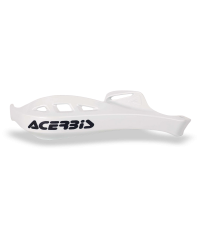 Protège-mains Rally Profile avec les fixations plastique (la paire) - BLANC