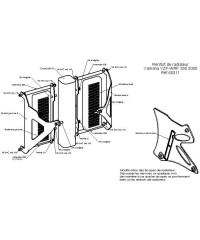 Protections de radiateurs Pour YAMAHA WR250F 2005-2006