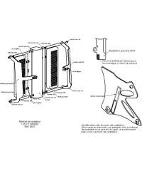 Protections de radiateurs Pour YAMAHA YZ125 2003-2004
