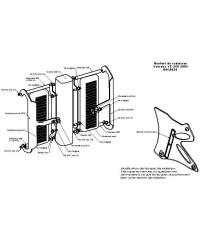 Protections de radiateurs Pour YAMAHA YZ250 2005-2009