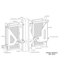 Protections de radiateurs Pour YAMAHA YZ250F 2008-2009