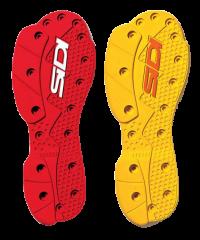 Paire de semelles pour bottes Sidi SRS Supermotard Jaune ou Rouge
