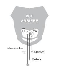 Plaque Phare Halogène H4