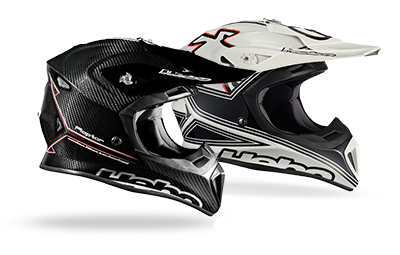 Casque carbone Enduro MX Hebo Raptore et Fibra