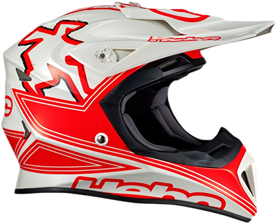 Casque Hebo Raptor Fibra rouge