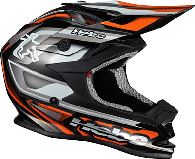 Casque Hebo Striker Orange